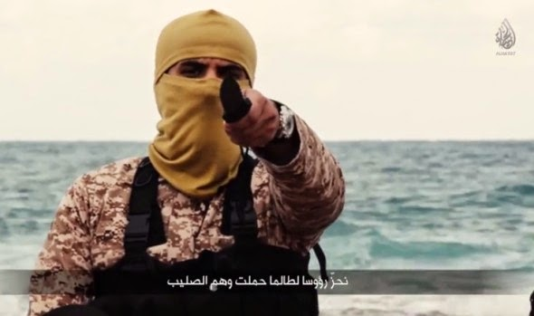 خطير وعاجل جدا : الساعة  كشفت حقيقة المتحدث في فيديو ذبح المصريين بليبيا ...