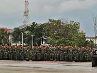 Kodam VII Wirabuana Gelar Pasukan Sambut SBY