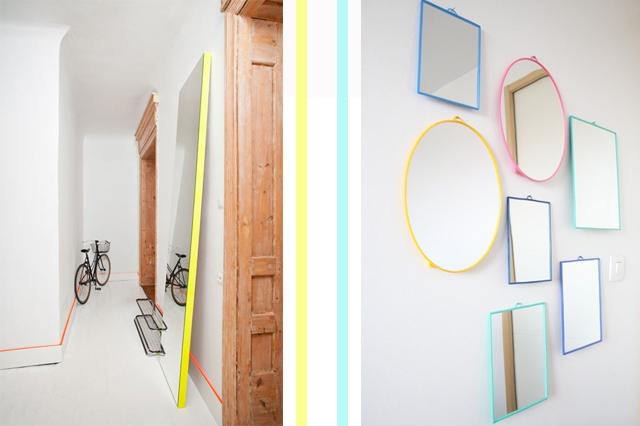 Miroirs neon