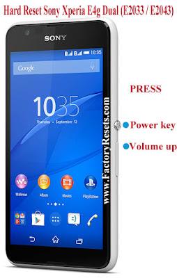 Hard Reset Sony Xperia E4g Dual (E2033  E2043)