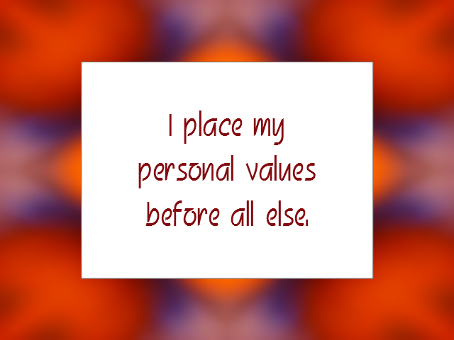 VALUES affirmation