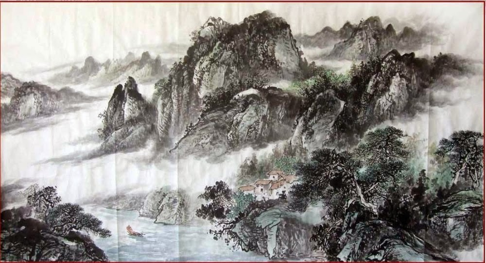 chinese art mountains - photo #37