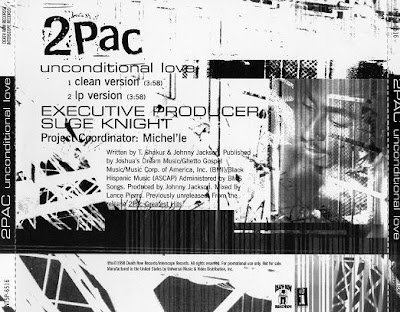 2Pac – Unconditional Love (Promo CDS) (1998) (320 kbps)