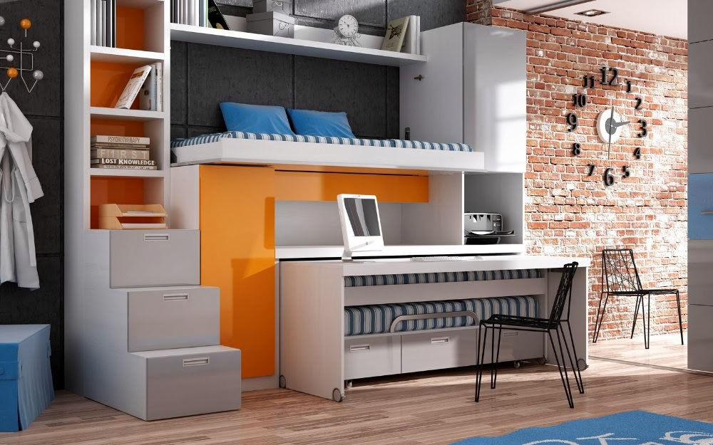 Hogar 10 muebles para espacios peque os for Mesas ordenador para espacios pequenos