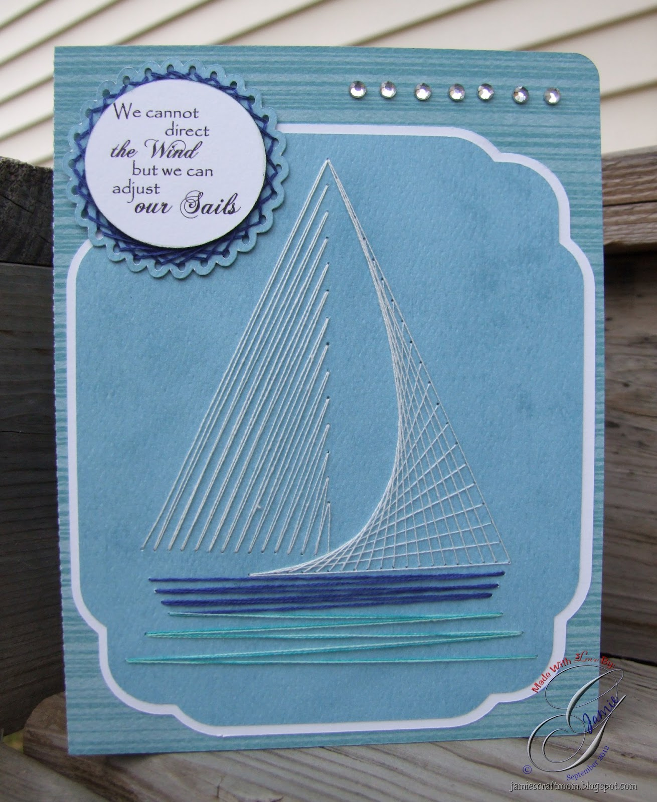 Jamies Craft Room String Art Anniversary Card
