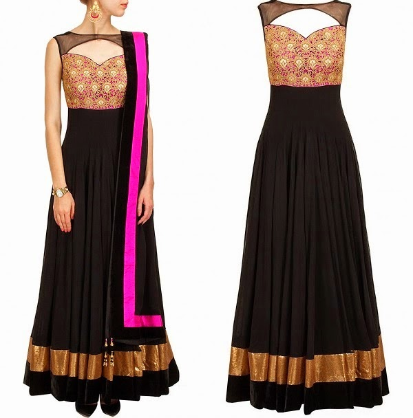 Indian Anarkali Frocks Collection 2014 For Ladies L