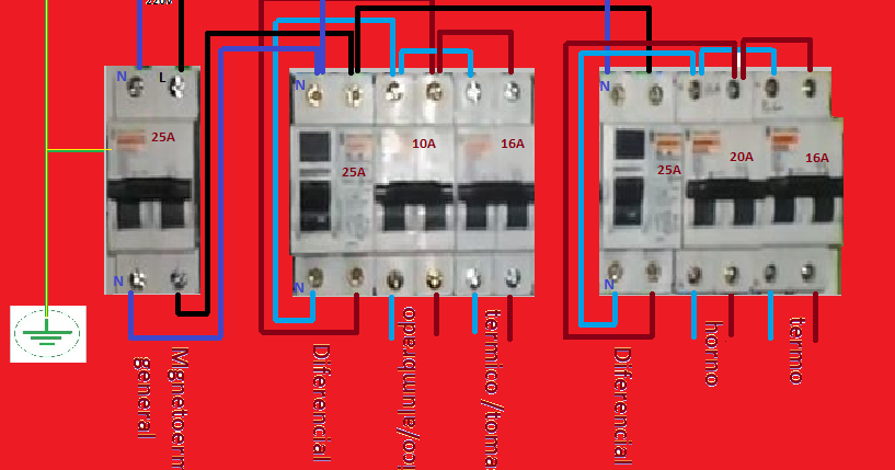 Cuadro electrico esquemas el ctricos - Cuadro electrico vivienda ...