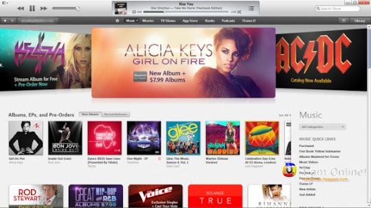 iTunes 11, iTunes Store, Music