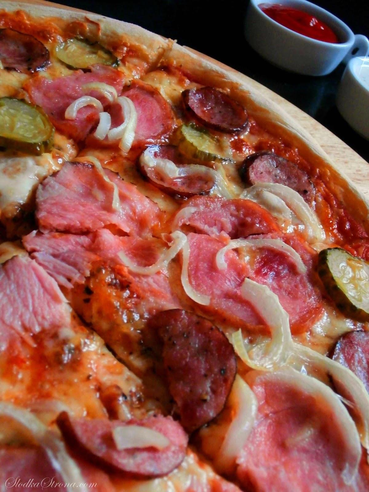 Domowa Pizza Wiejska - Przepis - Słodka Strona