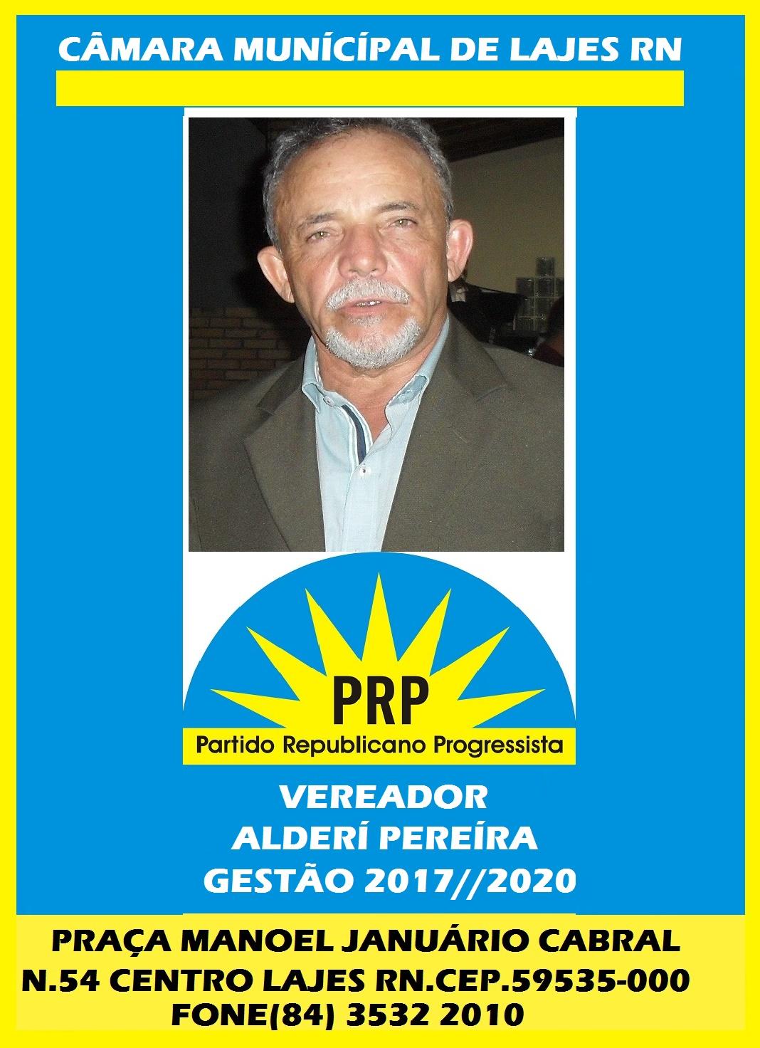 VEREADOR ALDERÍ PEREIRA LAJES DO CABUGI RN