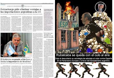 Los socialistas votan en Europa contra España y a favor del bandolerismo argentino