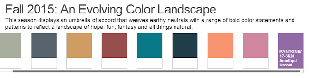 Pantone Colors for Fall 2015