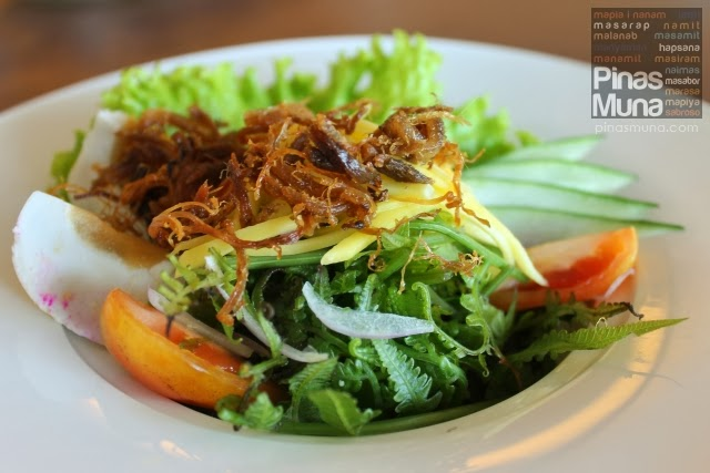 Pinac Salad - Ensaladang Pako with Fried Itik Floss