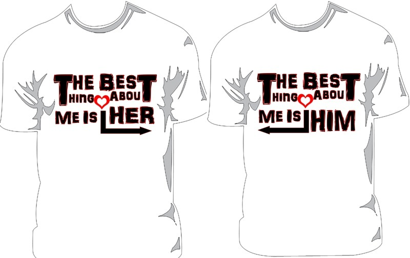 Design t shirt for couple joy studio design gallery for Best couple t shirt design
