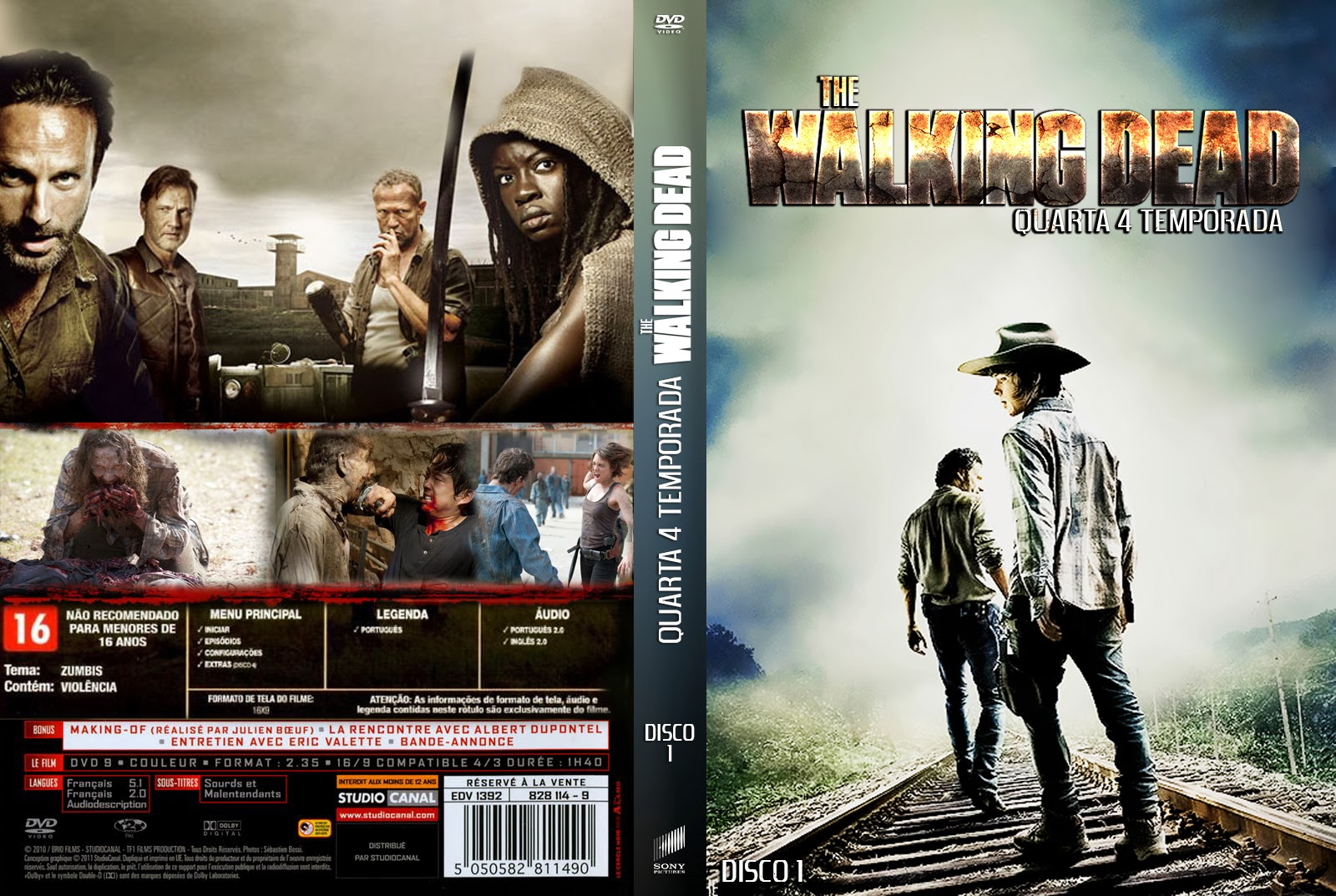 THE WALKING DEAD 4ª TEMPORADA DISCO: 1, 2 E 3 ~ ZICA TOP CAPAS