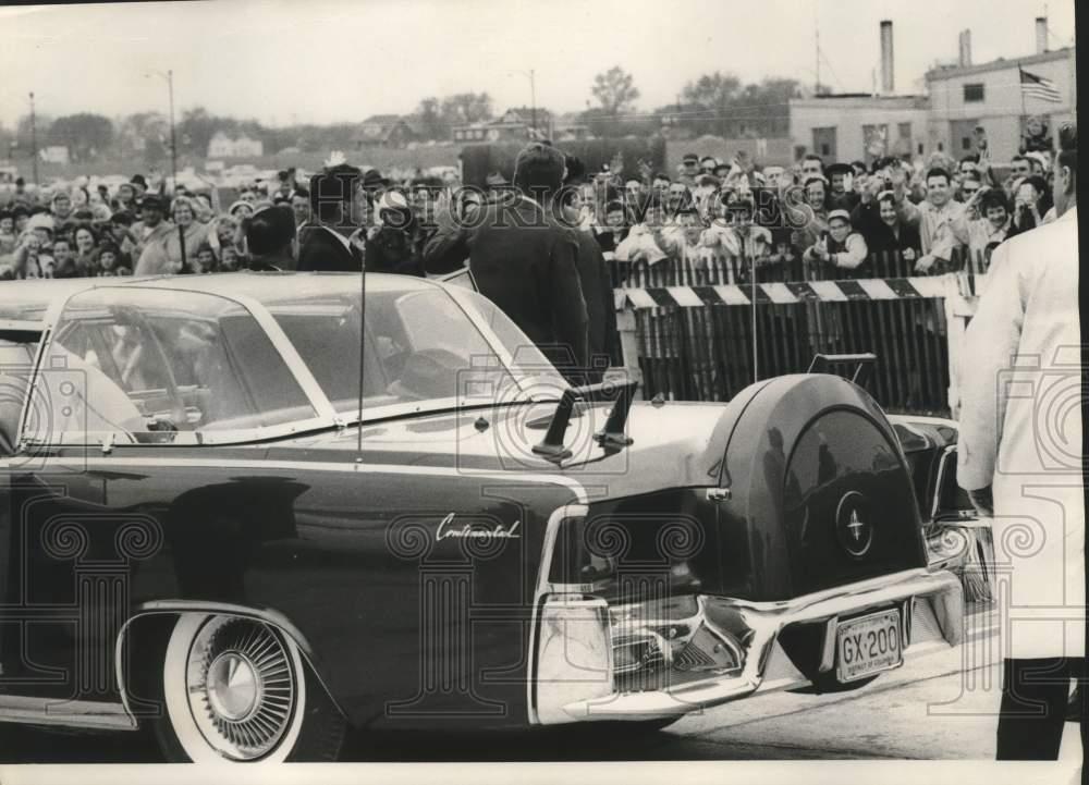 JFK, bubble top, Milwaukee, May 1962