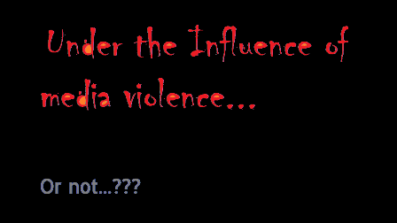 the influence of media violence Evidence regarding the impact of media violence on human aggression is fairly   moral beliefs can substantially influence scientific research, and its results are.