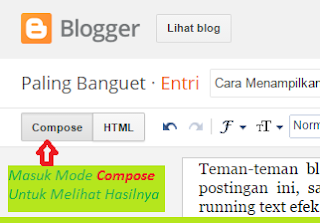 Running Text, Marquee Effect, Costumize Blog