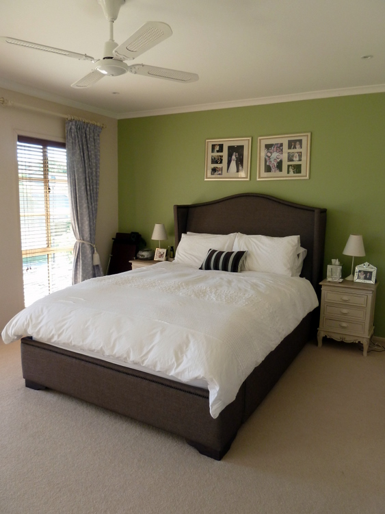 Stylish settings painting the master bedroom Master bedroom with green walls