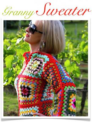 Blusa lã crochê