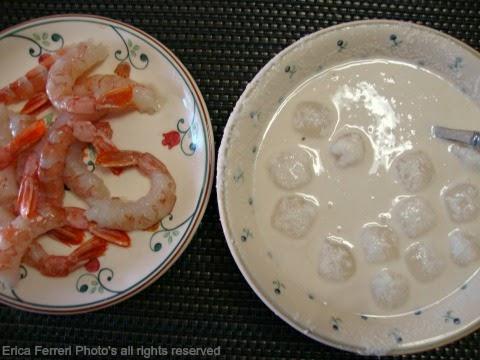 ingredienti della tempura di gamberi