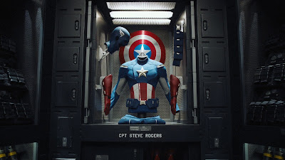 Captain America Costume and Shield The Avengers Movie HD  Desktop Wallpaper