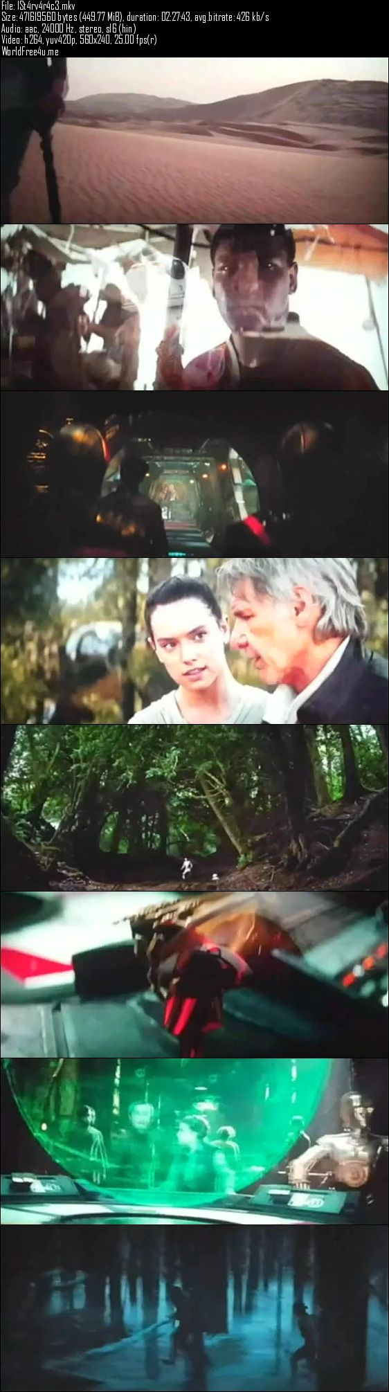 Screenshot Of Star Wars The Force Awakens Full Movie in Hindi Download Free Watch Online 450MB PDVDScr