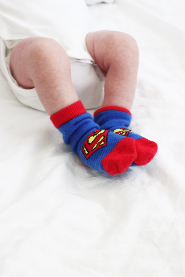 Superman baby socks