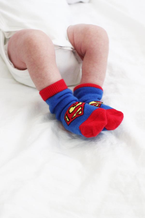 Superman baby socks