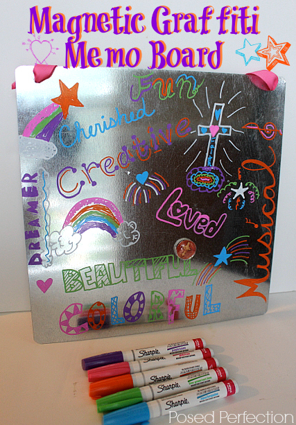 Magnetic Graffiti Memo Board