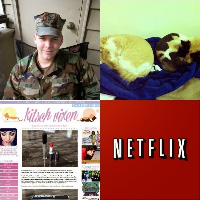 Hubby, Gremlins (Magenta & Columbia), Blogging, Netflix