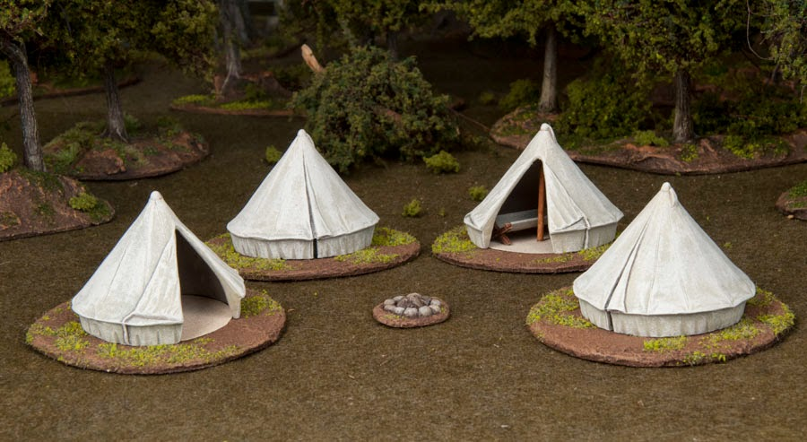 The tents are smallish but overall Iu0027m happy with them. The set includes two open tents two closed tents two cots and a fire pit. & Dr. Mathiasu0027s Miniature Extravaganza: Renedra Bell Tents