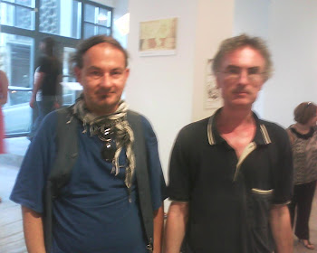 VISITORS COUTARELLI AND PAPADIMITRIOU..MEMBERS OF GREEK CARTOONISTS UNION