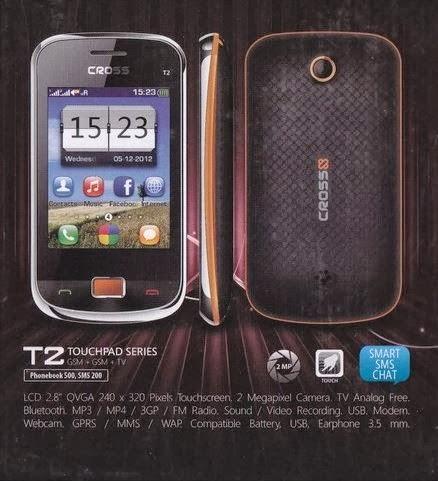 Spesifikasi Handphone Evercoss T2
