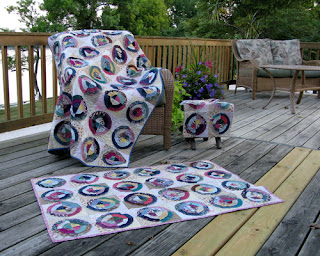 Bullseye quilts at Freemotion by the River