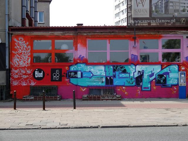 Mural na Solcu przy Wioślarskiej.