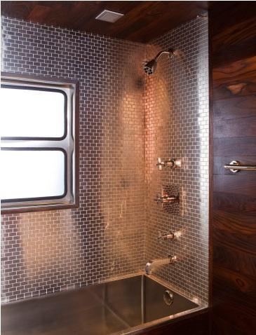 Spicer bank by allison egan airstream love for Travel trailer bathroom ideas