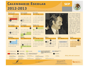 Calendario escolar 2012 -2013