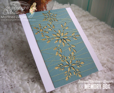 CAS gold snowflake card for winter flat