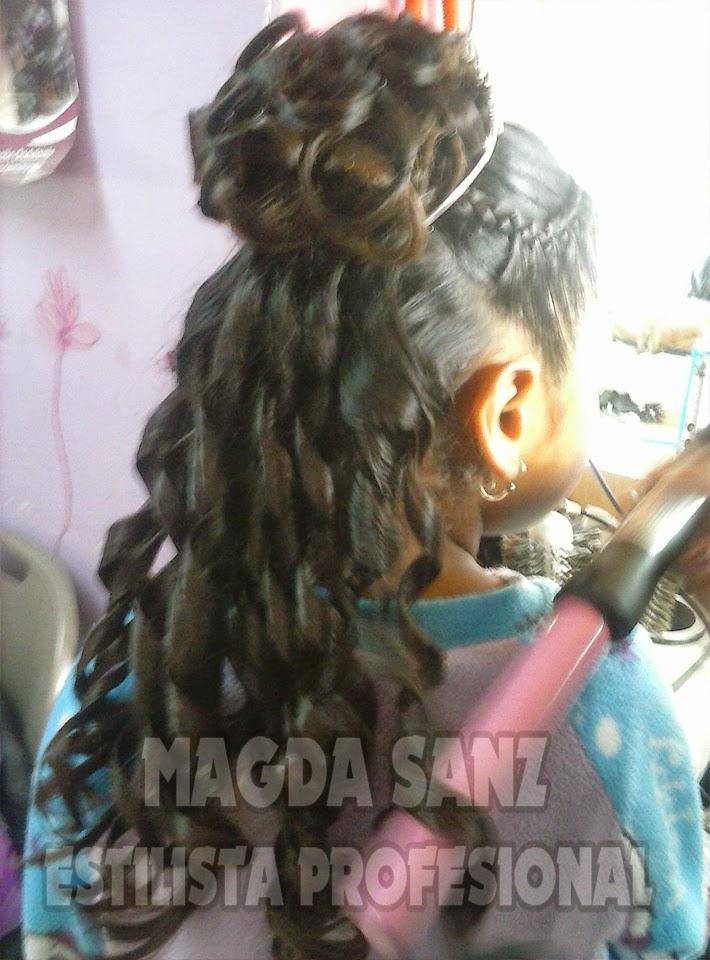 Peinados con gajos para primera comunion