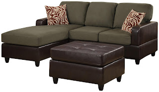 Microfiber And Leather Sectional Sleeper Sofa With Chaise And Storage