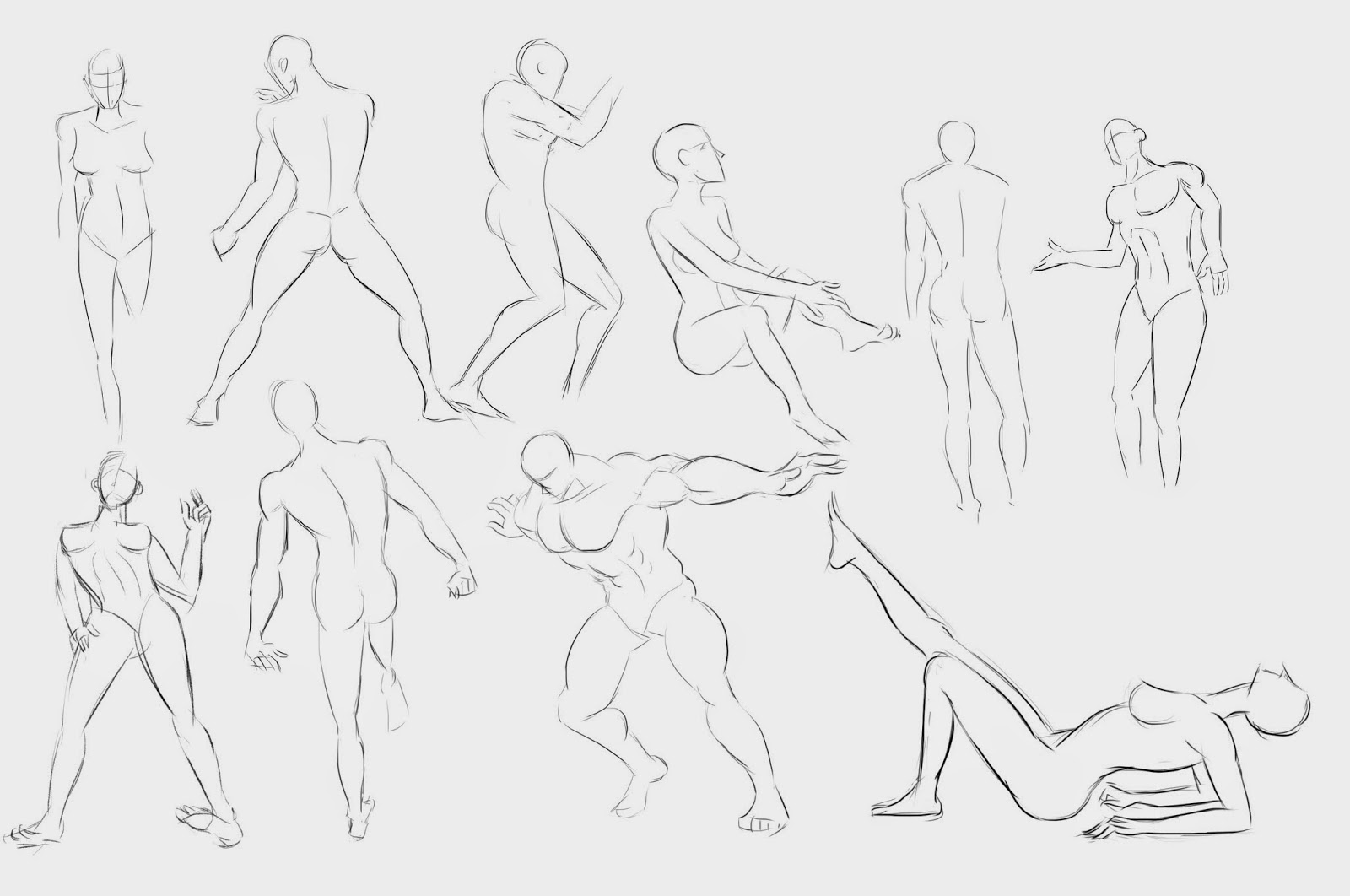 Artmarvs Illustrations Random Human Anatomy Sketch Study