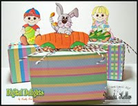 Easter Treat Box tutorial with Wanda