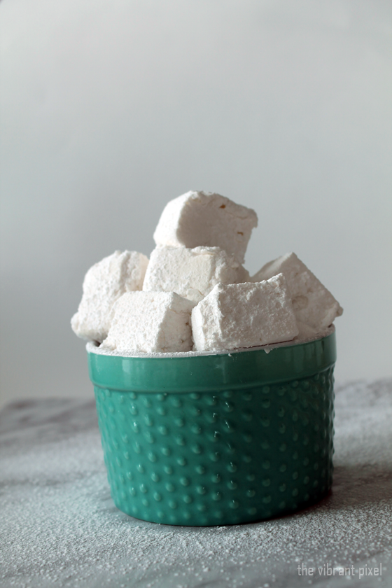 Christmas Treats Series: Peppermint Tea Marshmallows (Corn Syrup Free & Dairy Free)