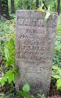 Gravestone of Margaret M. Beadles, Greer Cemetery, Wingo, KY
