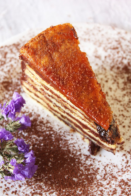 Hump day snack: raspberry and vanilla dobos torte with pulled sugar ...