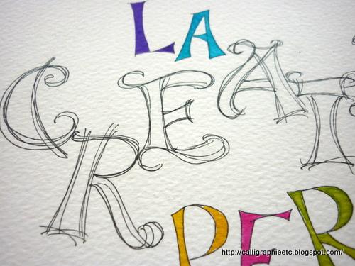 Natcalli Calligraphie & Illustration - Tatouage Lettre L Calligraphie