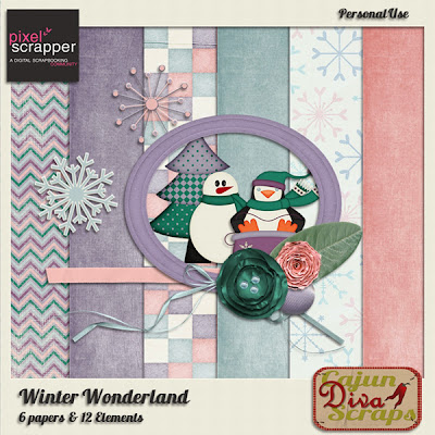 Pixel Scrapper December Blog train:  Winter Wonderland