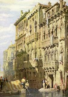 Water Color Painting - Palazzo Contarini Fasan