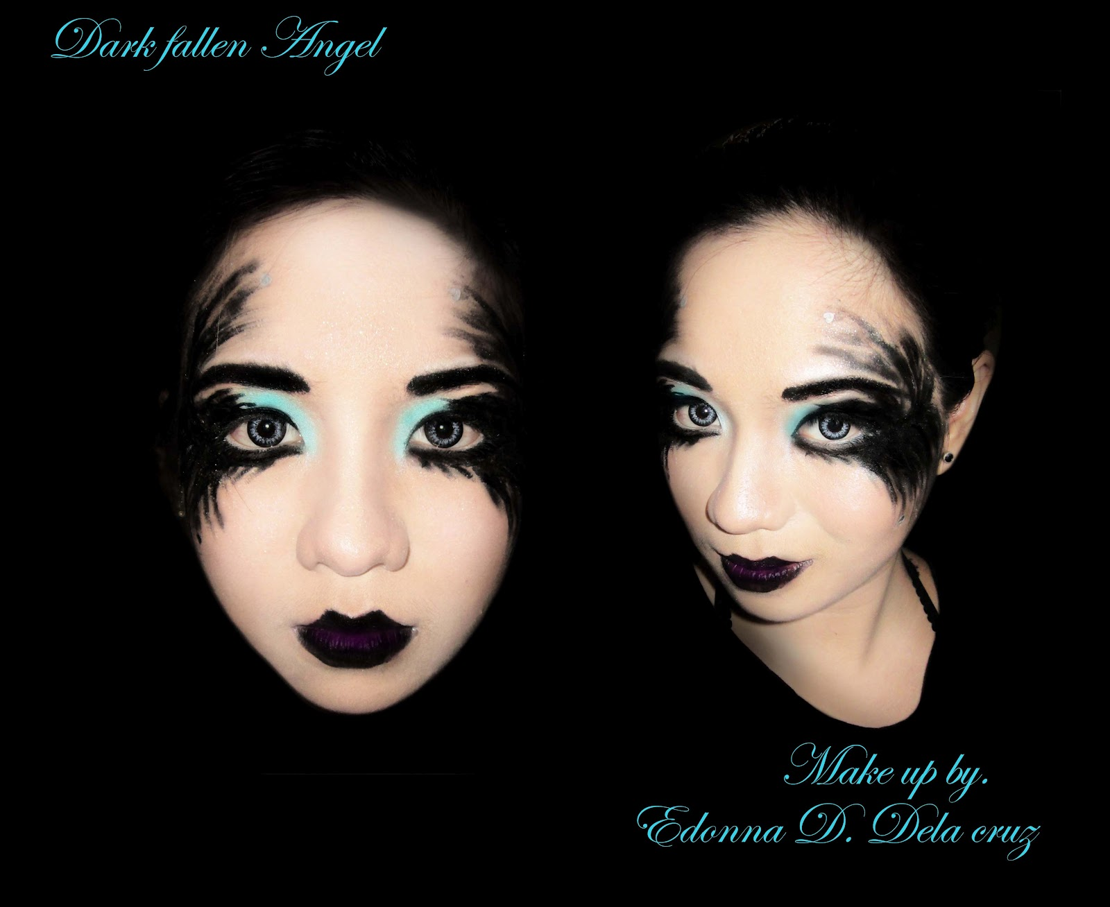 Halloween White Angel Makeup Fallen dark angel this make up